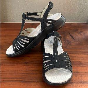 JBU by Jambo Black Sandals, NWOT, Size 8R